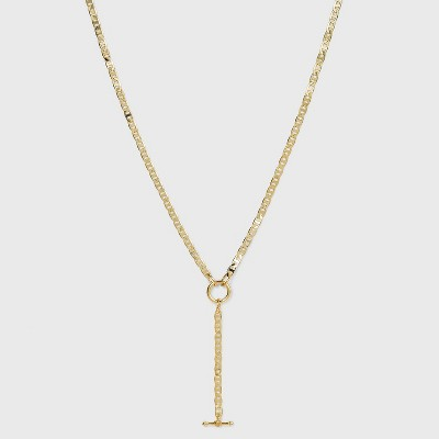 SUGARFIX by BaubleBar Gold Link Y-Chain Necklace - Gold