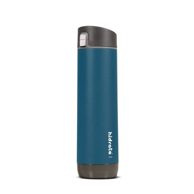 HidrateSpark 21oz Vacuum Insulated Stainless Steel Bluetooth Smart Water Bottle with Chug Lid - Deep Blue