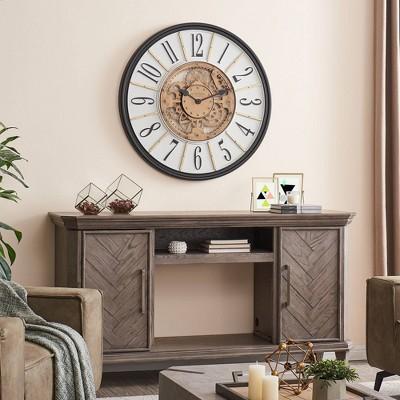 Montevallo Farmhouse Gears Clock Brass - FirsTime