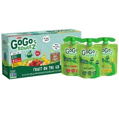 GoGo squeeZ Applesauce Variety Apple/Banana/Strawberry - 3.2oz/12ct