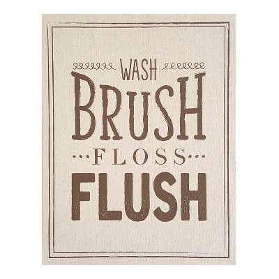 Stratton Home Decor 18 x14  Wash Brush Floss Flush Decorative Wall Art Set Beige