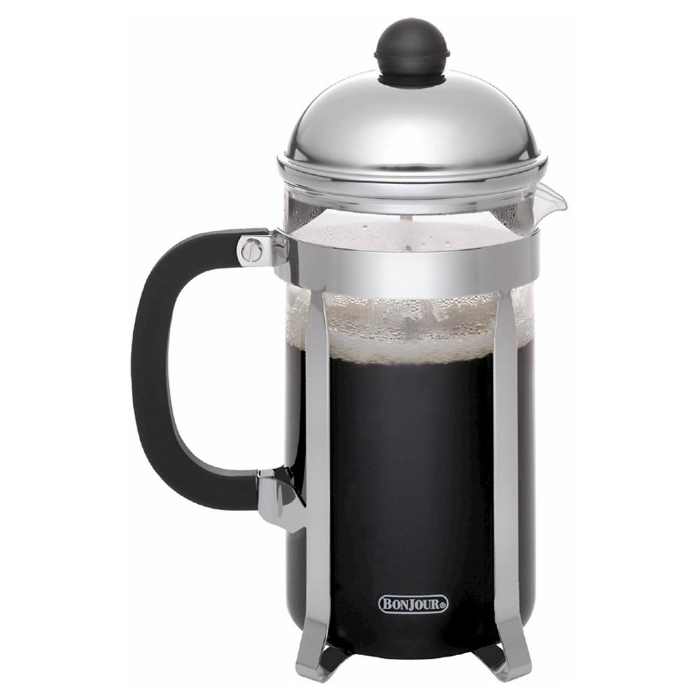 Bonjour 12 Cup French Press – Stainless Steel, Black 51160712