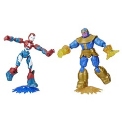 Marvel Avengers Iron Patriot vs Thanos Bend and Flex Action Figures