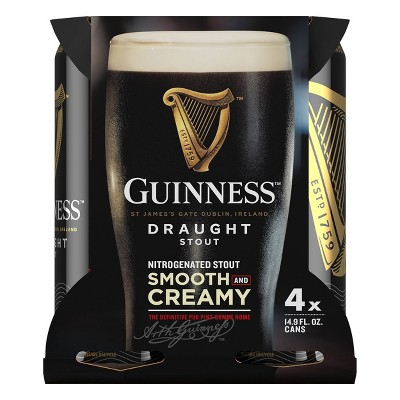 Guinness Draught Beer - 4pk/14.9 fl oz Cans