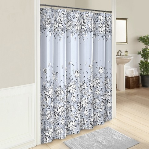 Danica Printed Shower Curtain Blue - Marble Hill - image 1 of 1