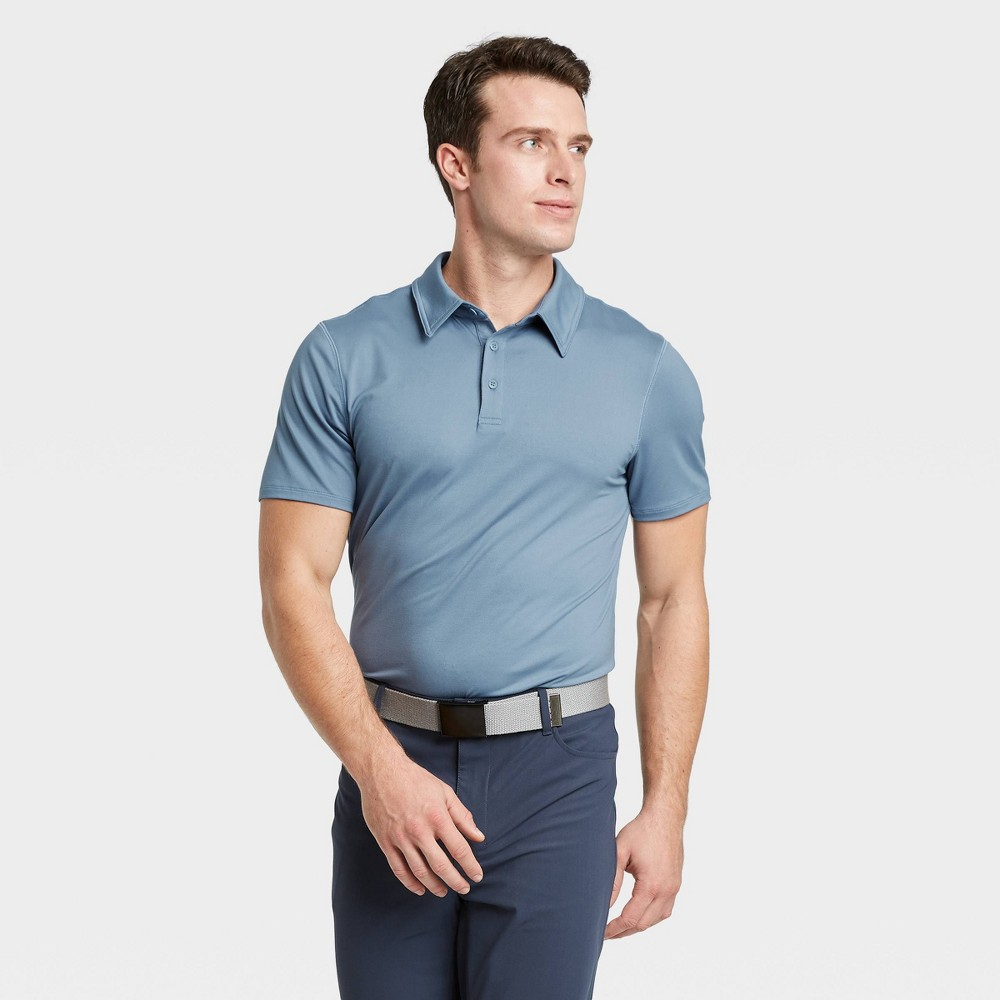 Men's Jersey Golf Polo Shirt - All in Motion Blue Gray XL, Men's was $20.0 now $12.0 (40.0% off)
