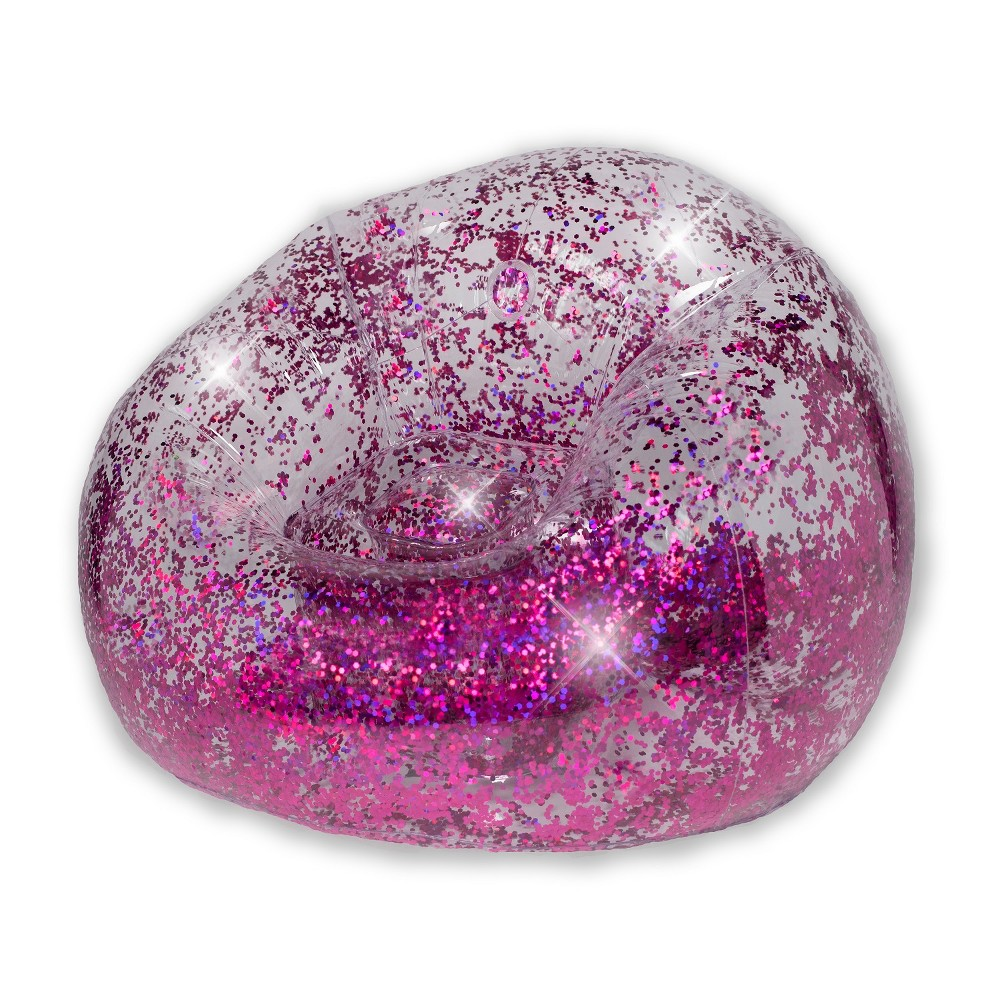 Inflatable Glitter Chair Pink Glitter - Air Candy