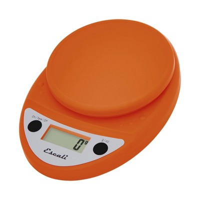 Escali Primo Digital Kitchen Scale Orange, Pumpkin Orange