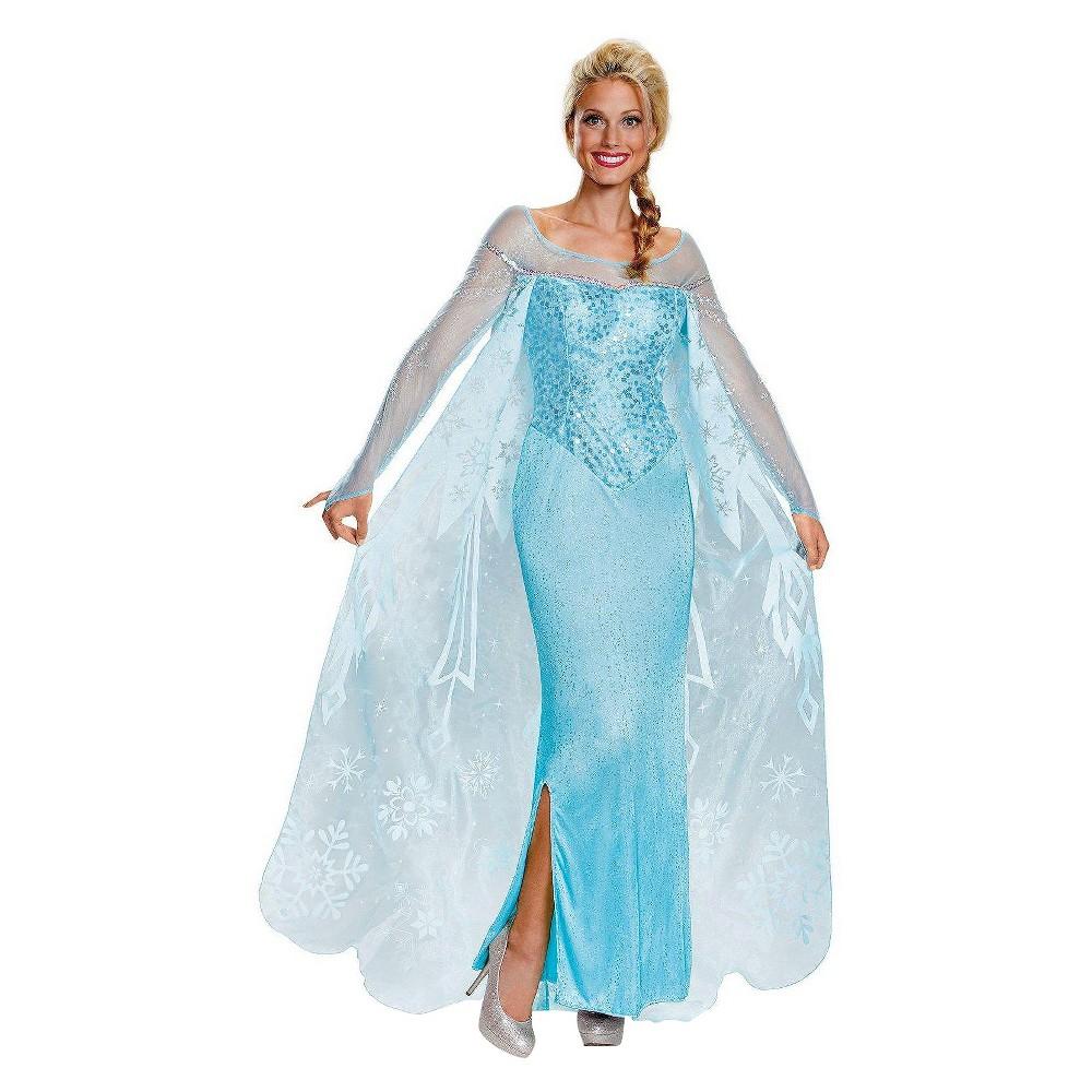 Disney Women's Frozen: Elsa Prestige Costume - Small, Blue