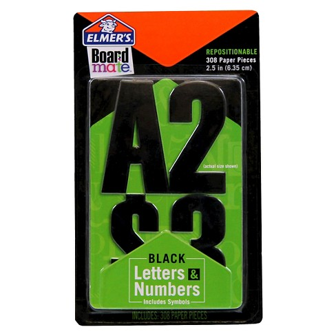 Elmers Boardmate Accessory Letters and Numbers Black - image 1 of 1
