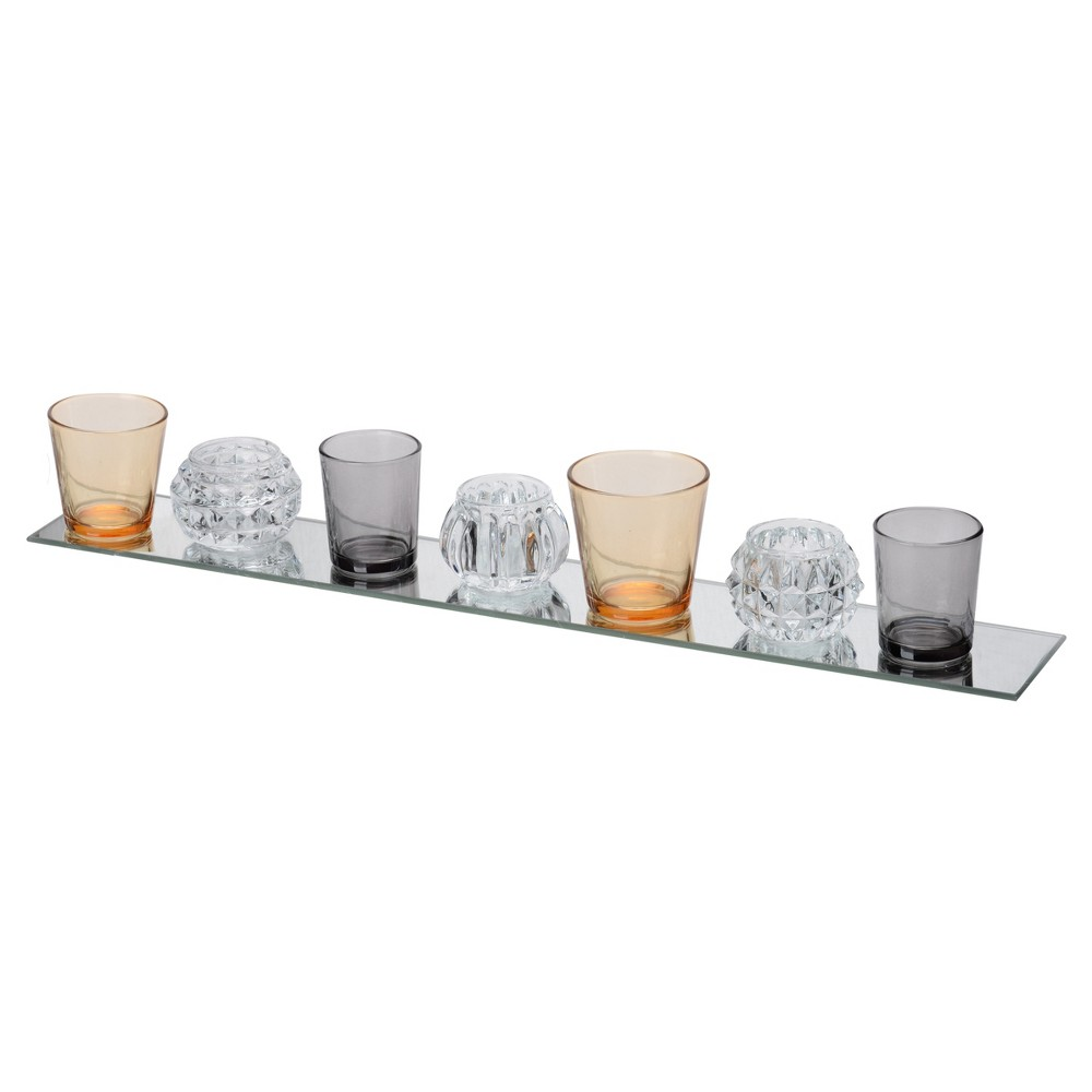 Image of Imogen 7-Votive Candle Plate Lavender & Champagne - A&B Home