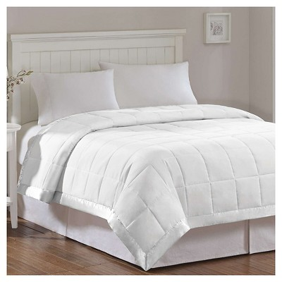 Bed Blanket Prospect All Season Hypoallergenic Microfiber Down Alternative with 3M Scotchgard Finish (Full/Queen)White
