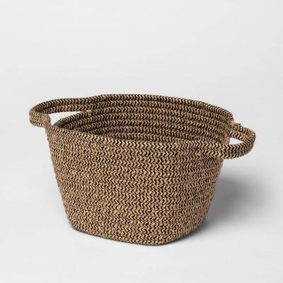 Small Jute Rope Basket Black/Natural - Threshold™