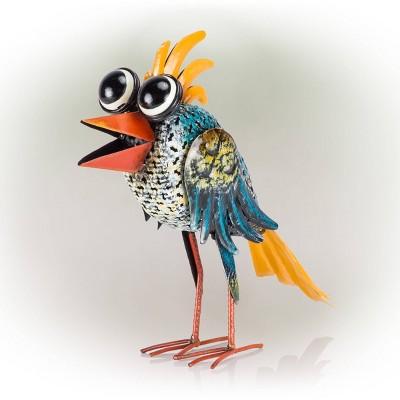 Alpine Quirky Metal Wide-Eyed Bird Decor