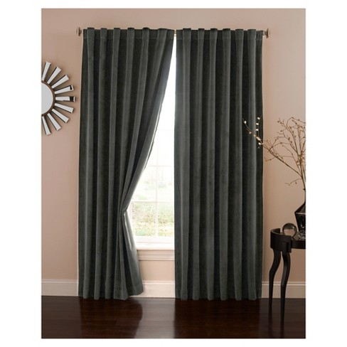 Velvet Blackout Home Theater Curtain Panel - Eclipse Absolute Zero - image 1 of 1