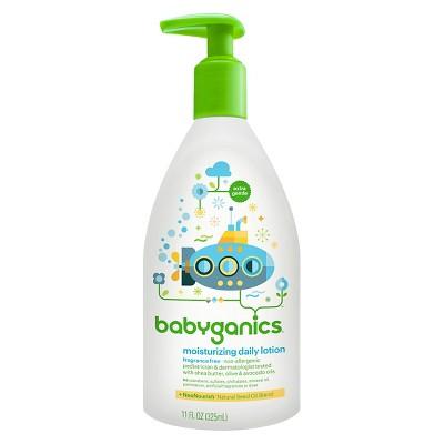 Babyganics Moisturizing Daily Baby Lotion, Fragrance Free - 11oz Pump Bottle