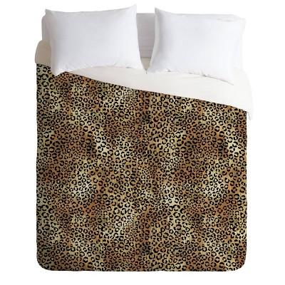 Schatzi Brown Leopard King Duvet Set Tan