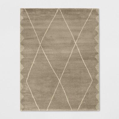 7'X10' Woven Diamond Area Rug Desert Tan - Project 62™