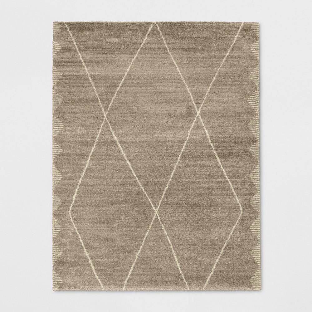7'X10' Woven Diamond Area Rug Desert Tan - Project 62