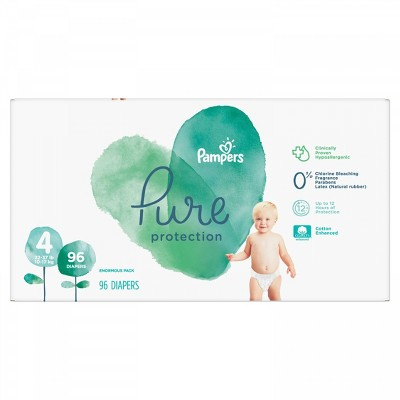Pampers Pure Protection Disposable Diapers Enormous Pack - Size 4 (96ct)