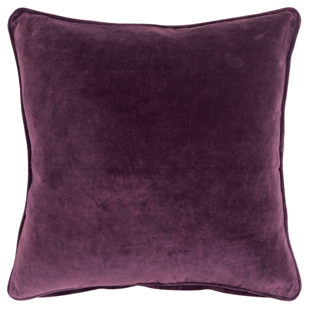Image of Connie Post Solid Poly Filled Pillow Violet - Rizzy Home, Purple