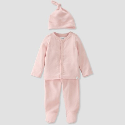 Baby Girls' 3pc Pointelle Top and Bottom Set - little planet by carter's Pink 3M