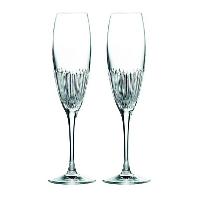 Royal Doulton 5.7oz 2pk Crystal Calla Champagne Flute Glasses