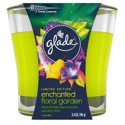 Glade Enchanted Floral Garden Candle - 3.4oz