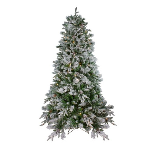 Northlight 7 5 Prelit Led Artificial Christmas Tree Flocked Mixed Colorado Pine Warm White Lights Target