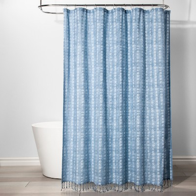 Shapes Shower Curtain Borage Blue - Threshold™