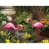 Steel Yard Statue Stake Pink Flamingo - Bloem - image 4 of 4