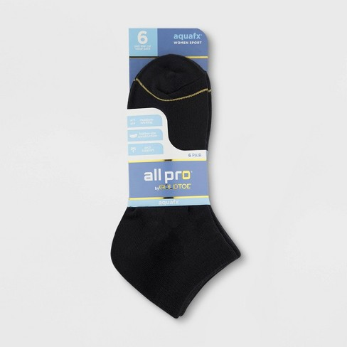 83e5b6739bf All Pro By Gold Toe Women s 6pk Flatknit Lowcut Athletic Socks ...
