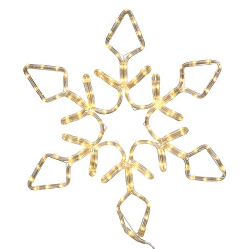 LED Snowflake Rope Lights - White (24'') - image 1 of 1