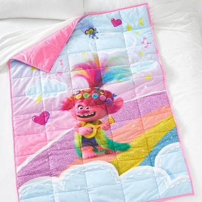 Trolls Standing on Rainbows Weighted Blanket