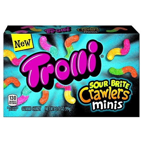 Trolli Sour Brite Crawlers Minis Gummi Candy Theater Box - 3.5oz - image 1 of 1
