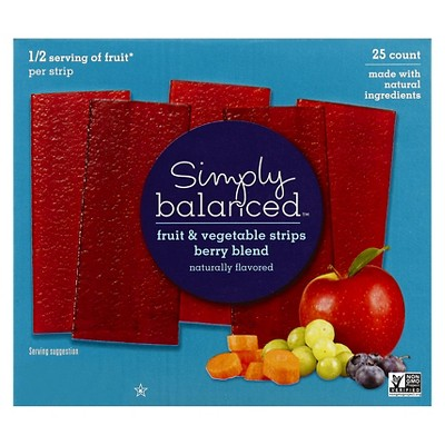 Berry Blend Fruit & Vegetable Strips - 25ct - Simply Balanced™