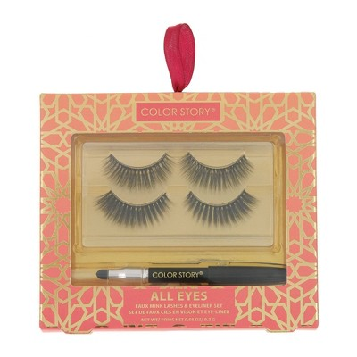 Color Story All Eyes Faux Mink Lashes & Eyeliner Set - 2ct