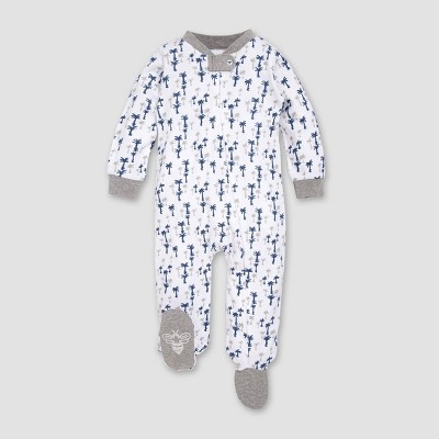 Burt's Bees Baby® Boys' Organic Cotton Breezy Palms Sleep N' Play - Blue 3-6M