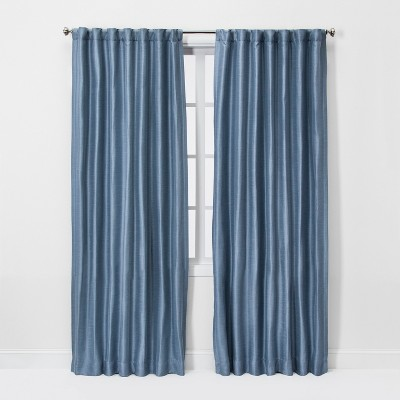 84 x52  Room Darkening Window Curtain Panel Indigo - Threshold™