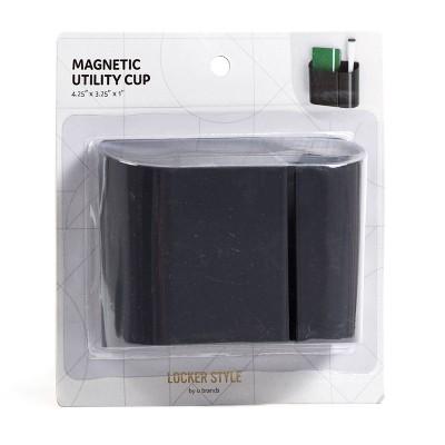 Locker Style Magnetic Plastic Locker Utility Cup Gray