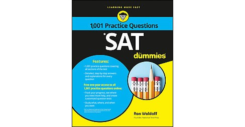 1,001 SAT Practice Problems for Dummies (Paperback) (Ron Woldoff) - image 1 of 1