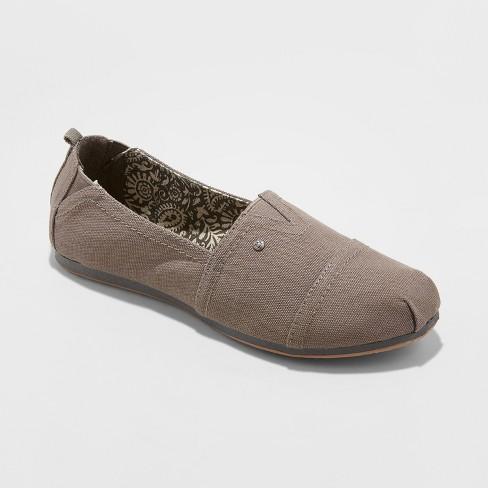 487de13fc59 Women s Mad Love Lydia Slip On Wide Width Canvas Sneakers - Gray 12W ...