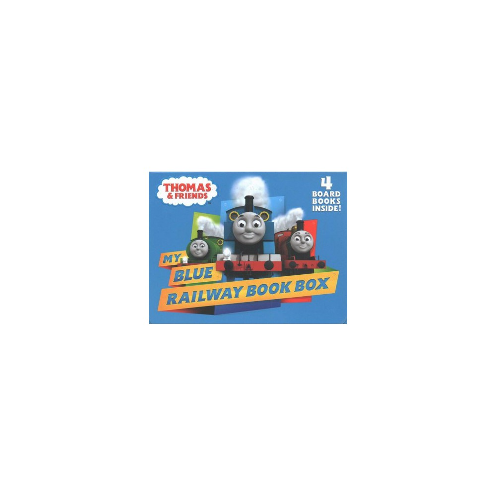 My Blue Railway Book Box - (Bright and Early Board Books) (Hardcover)