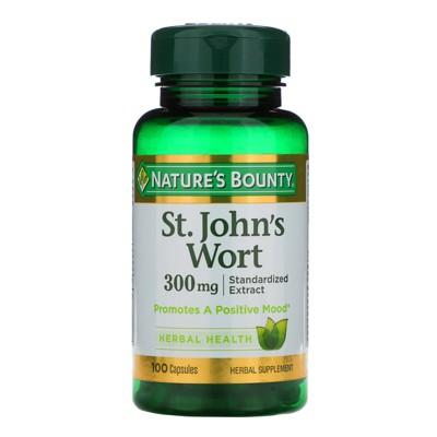 Nature's Bounty St. John's Wort, 300 mg, 100 Capsules, Herbal Supplements