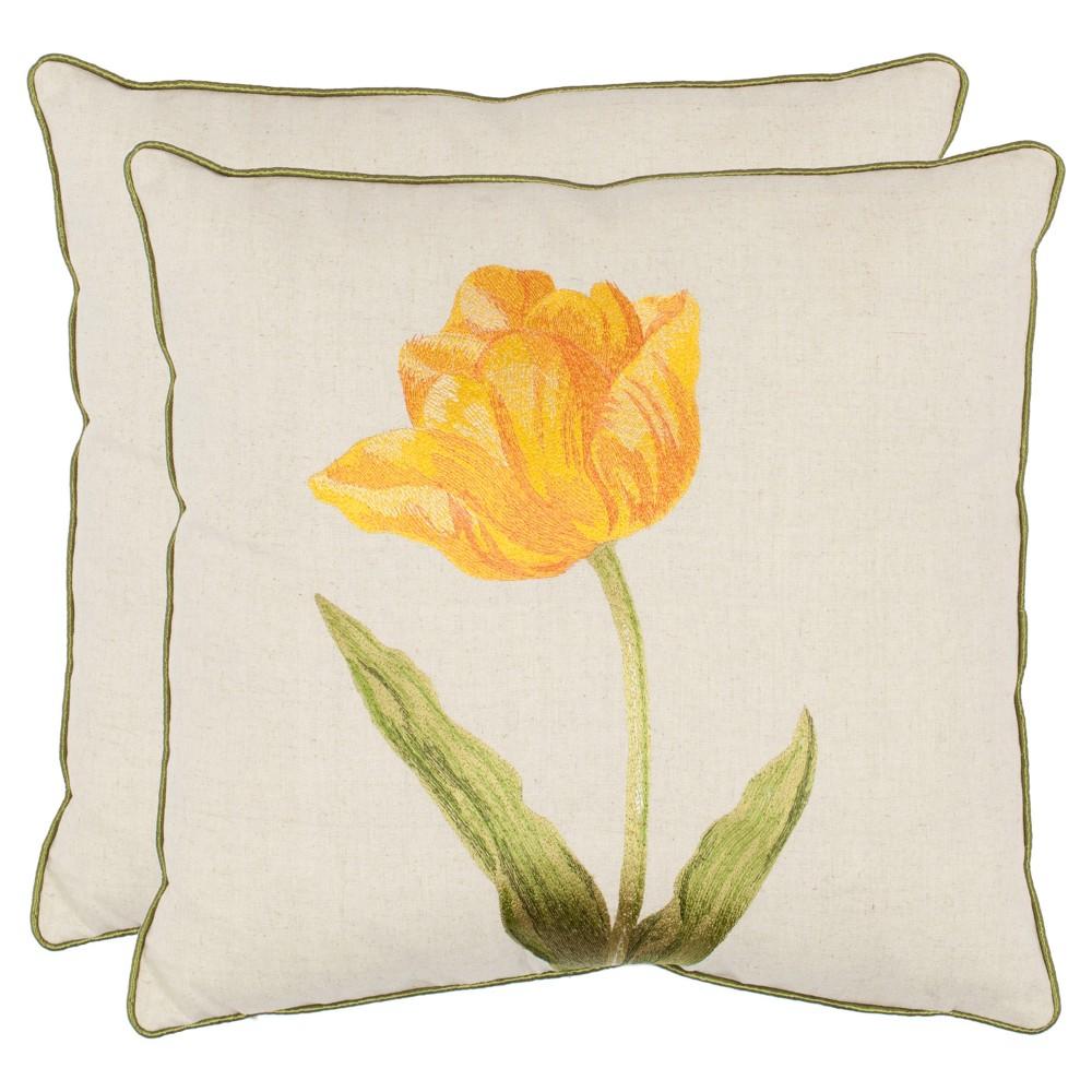 Gold Set Throw Pillow (18