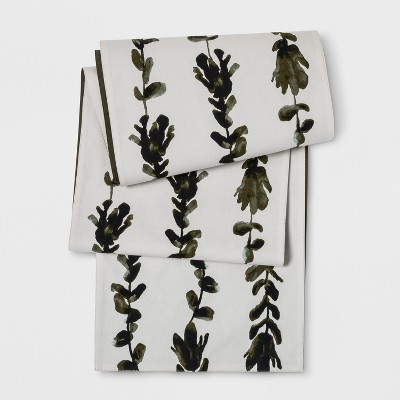 108 x14  Palm Tree Dog Bone Sage Fling Table Runner Green - Project 62™