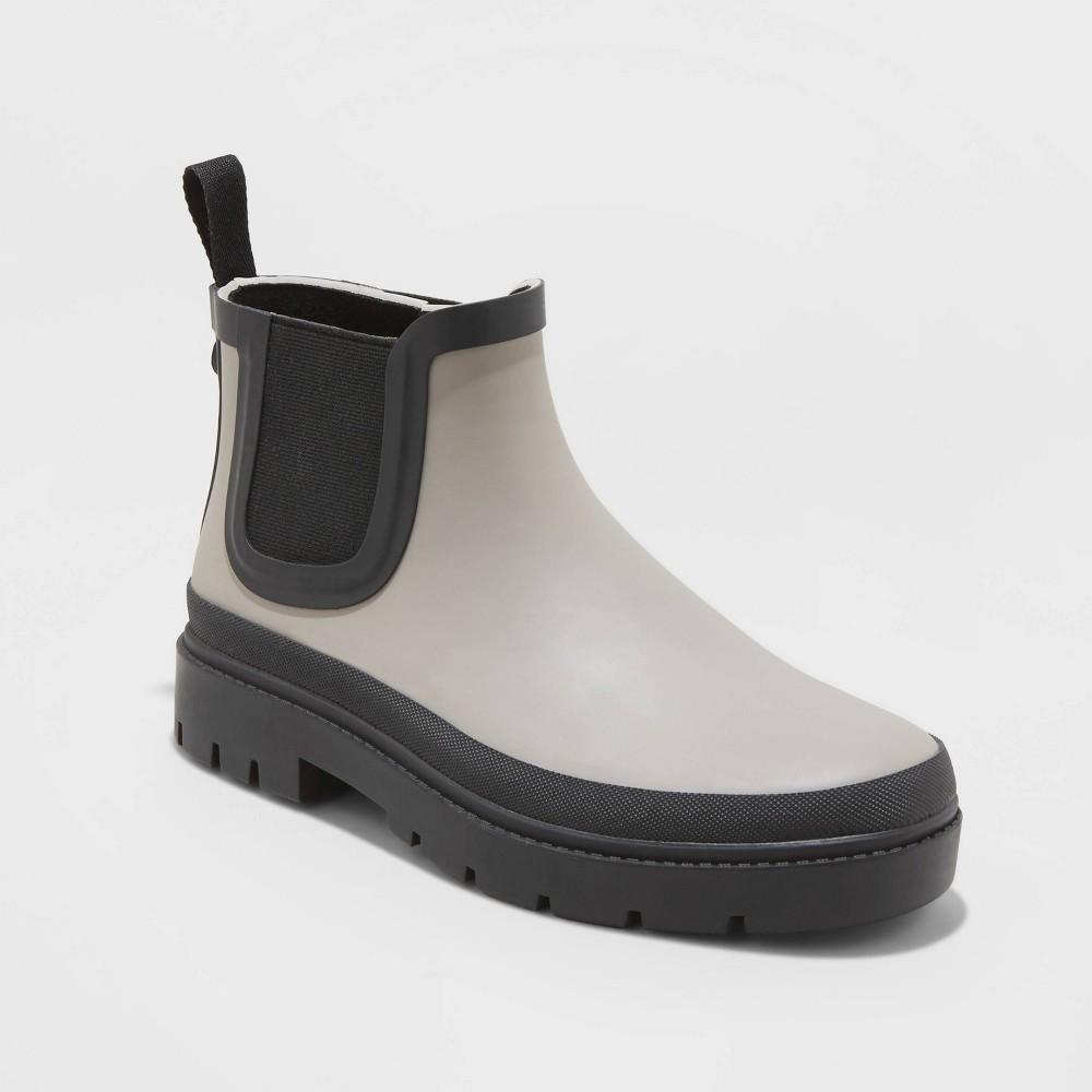 Women's Kaden Rubber Double Gore Rain Boots Universal Thread Gray 5, Women's