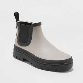 Women's Kaden Rubber Double Gore Rain Boots - Universal Thread™ Gray 10