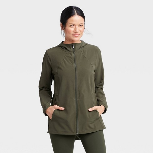 Women's Anorak Jacket - All in Motion™ Olive Green XL - image 1 of 4