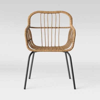 4pk Mid-Century Patio Stack Chair - Brown - Project 62™